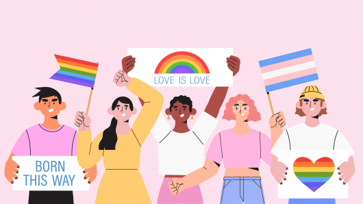 Transgender is an umbrella term for people whose gender identity is different from their assigned sex at birth. Image is a representation against violence, discrimination, human rights violation. Equality and homosexuality. #loveislove